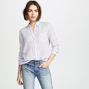 Rails Charli White Blush Sky Button Down Shirt